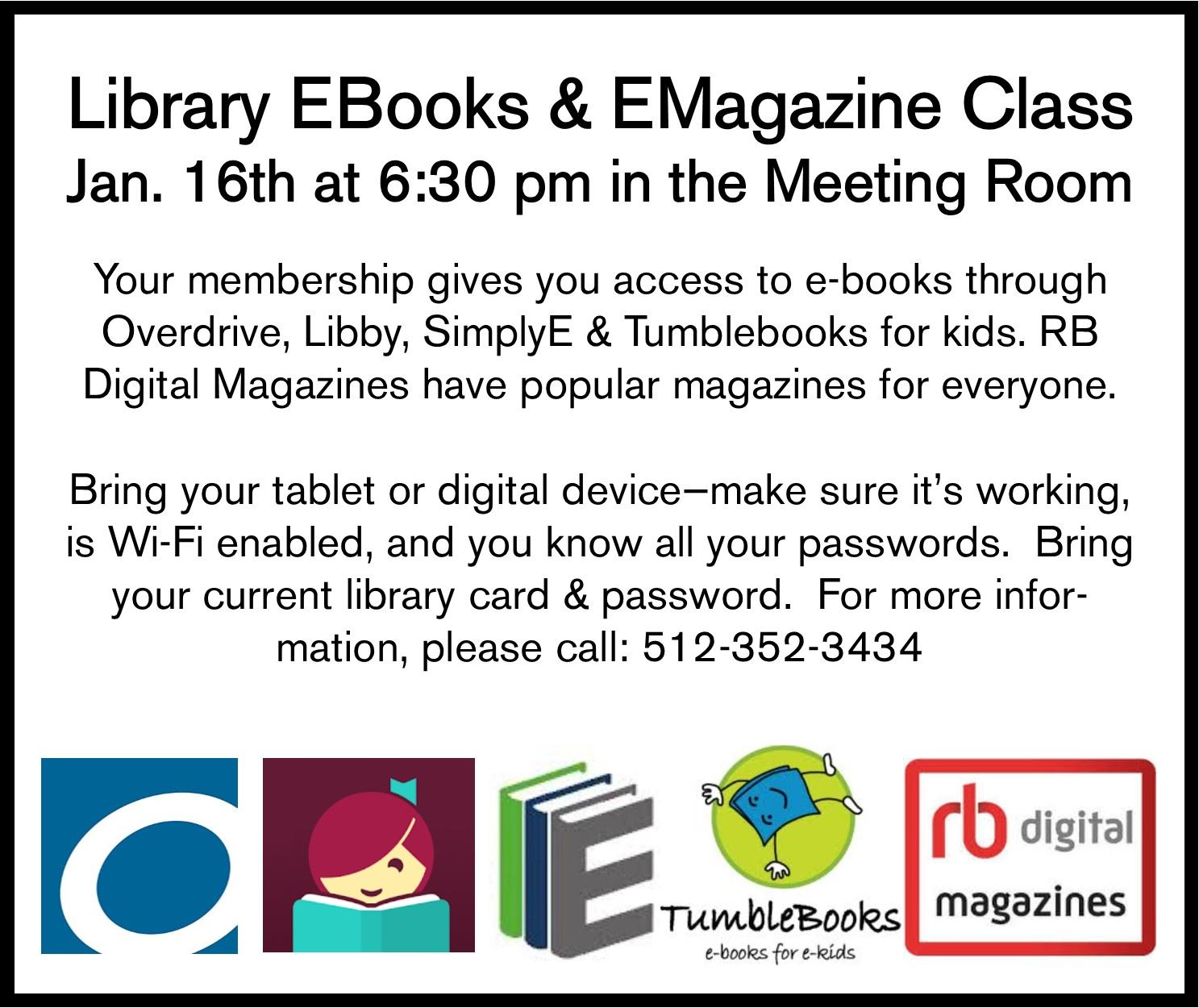 EBook EMagazine Class Jan 16 2020