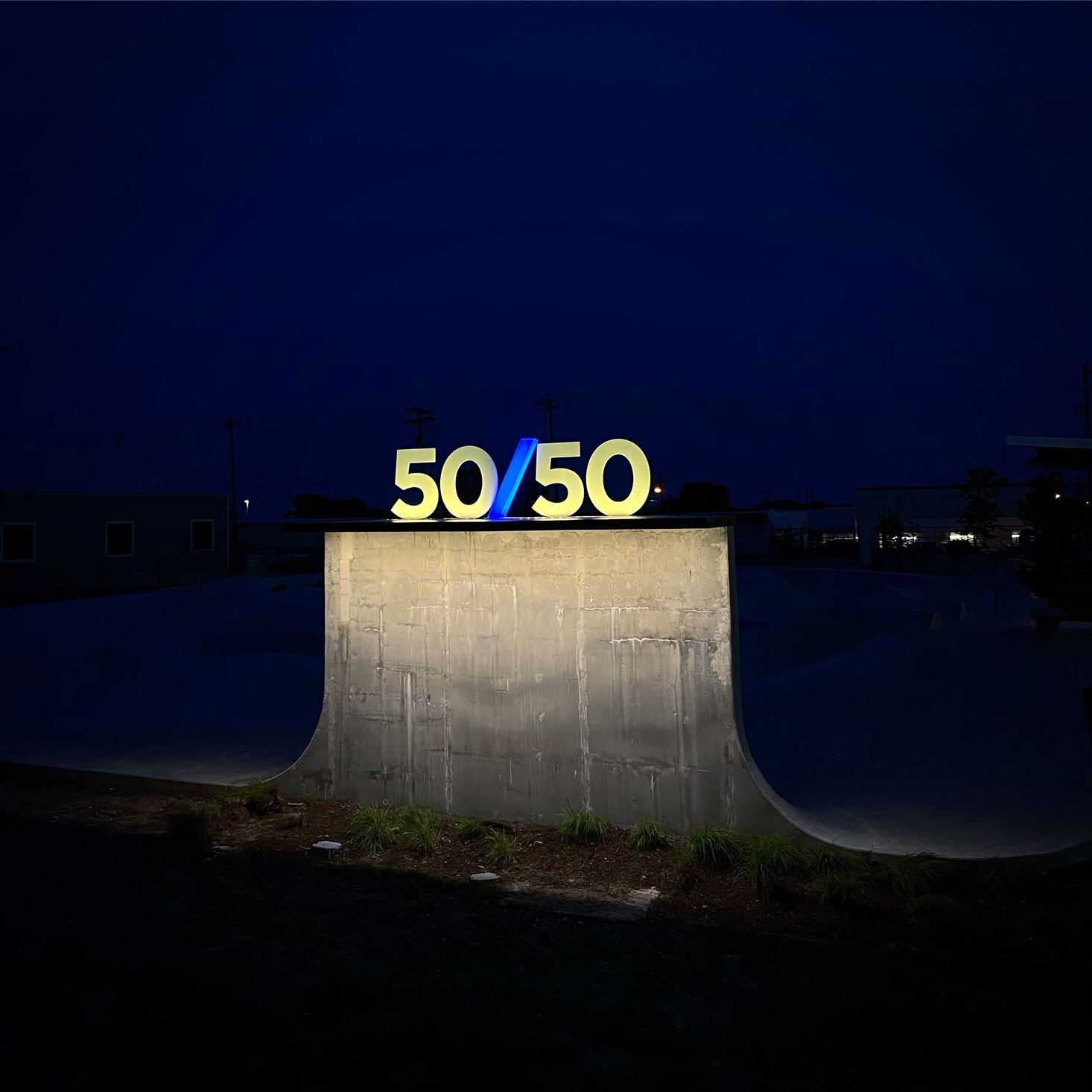 5050 Sign Pierce Park