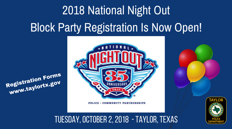 NNO BLOCK PARTY REGISTRATION OPEN 2018