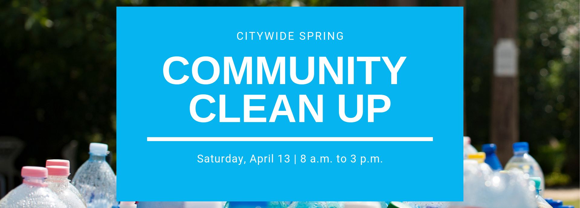 CITYWIDE SPRING CLEAN UP banner